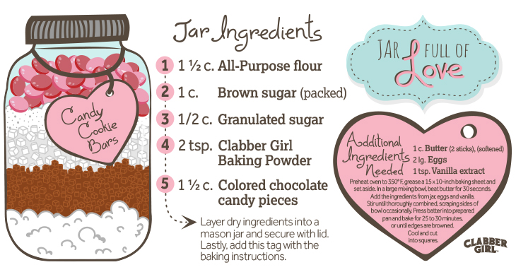 Valentine's Day Cookie-Bars-in-a-Jar Recipe