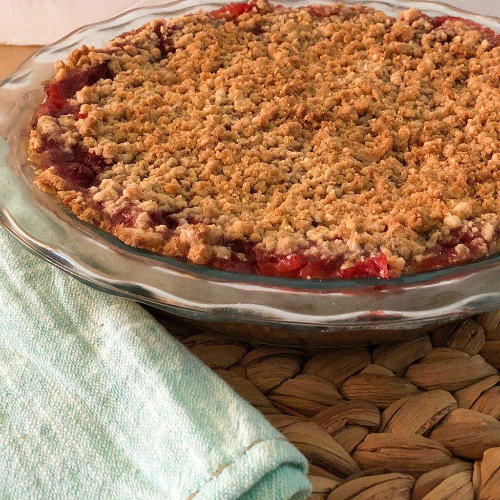 Dutch Style Strawberry Rhubarb Pie